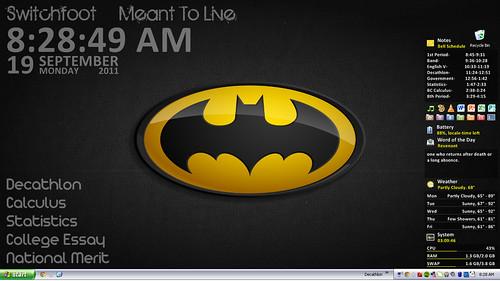 Batman Desktop (High School Productivity)
