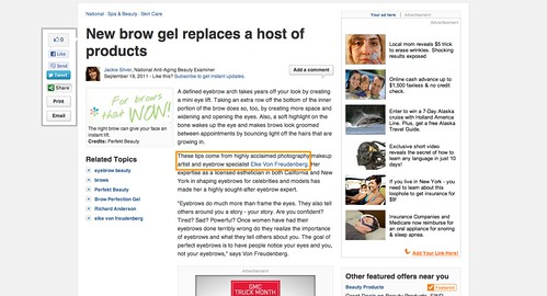 New brow gel replaces a host of products   National Anti Aging Beauty   Examiner.com