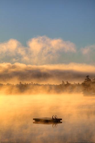 mist lake nature fog clouds reflections landscape pond newengland float fayette echolake morningmist morningfog platinumheartaward fayettemaine