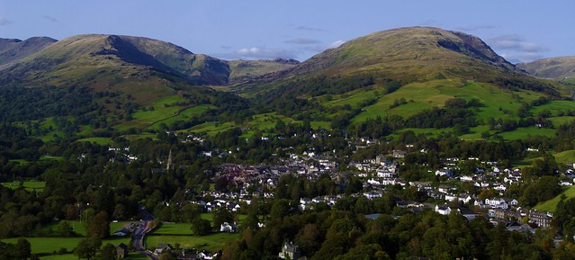 Ambleside, Cumbria - from the air