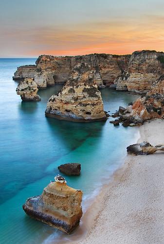sunset sky seascape portugal sunrise landscape perfect sunsets algarve pds praiadamarinha
