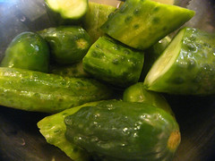 bell pepper(0.0), summer squash(0.0), pickling(0.0), plant(0.0), bell peppers and chili peppers(0.0), pimiento(0.0), jalapeã±o(0.0), cucurbita(0.0), vegetable(1.0), pickled cucumber(1.0), produce(1.0), food(1.0), dish(1.0),