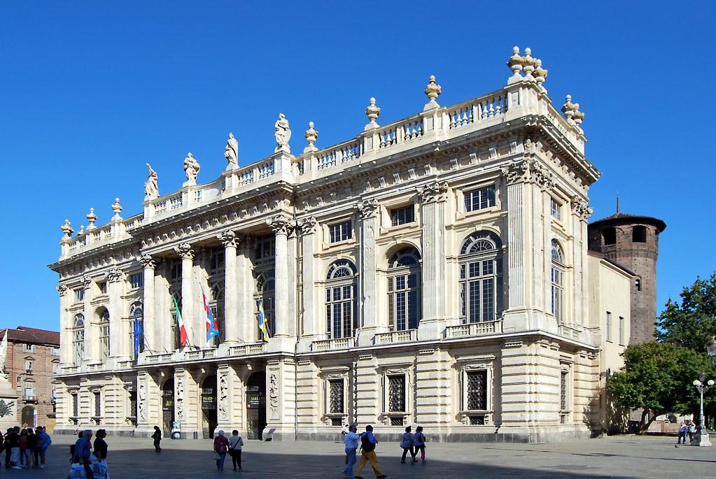 Palais Madame au coeur de la Piazza Castello à Turin. Photo de Giovanni.