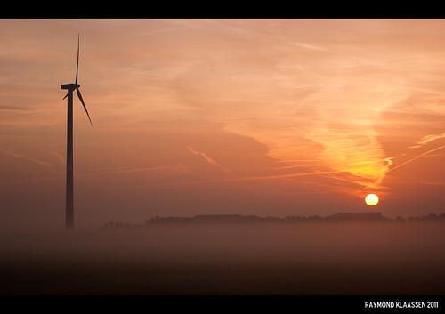 mist sunrise nevel nederland flevoland zonsopkomst raymondklaassen mistbanken
