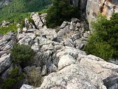 Castellu di Chirgini Visconti : aménagements sommaires au-dessus du castellu