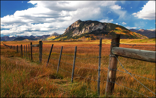 A Fence in Crested Butte, Colorado