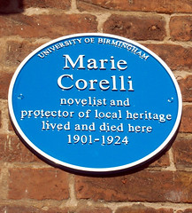 Photo of Marie Corelli blue plaque