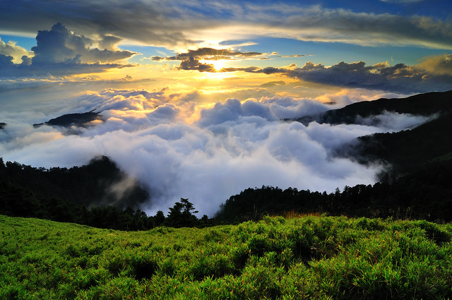 Sea of clouds in Mt. Hehuan 合歡雲海