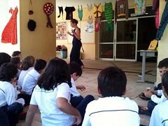 contação de história e oficina na escola castanheiras