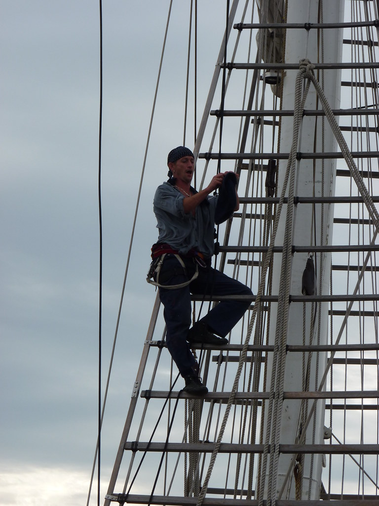 'Pirate' goes aloft on the STS Lord Nelson!