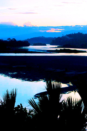 sunset river ecuador amazon rainforest jungle napo yachana