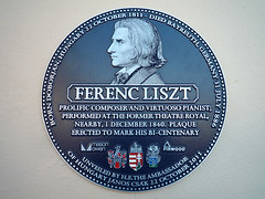 Photo of Theatre Royal, Liverpool and Franz Liszt blue plaque