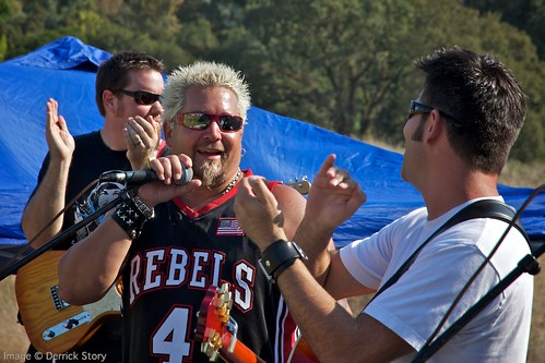 Guy Fieri on Stage with Pete