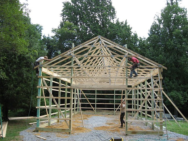 24 x 48 x 12 DIY Pole Barn | Flickr - Photo Sharing!