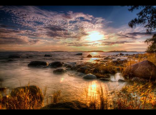sunset sky sun clouds sunrise finland landscape coast helsinki meer heaven stones himmel wolken shore landschaft sonne verkaufen küste nd110