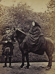 Queen Victoria on 'Fyvie' with John Brown at Balmoral, 1863, by George Washington Wilson