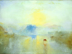 Norham Castle, Sunrise, ca. 1845, by JMW Turner