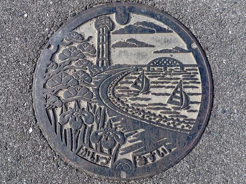 Kaizu Gifu manhole cover(岐阜県海津市のマンホール)