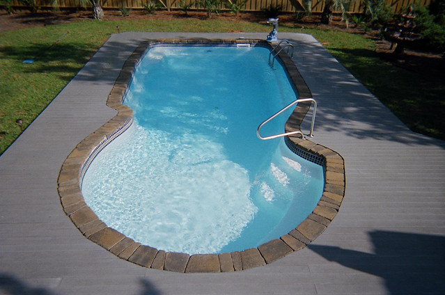 Blue Hawaiian Fiberglass Pools Blue Key Model Inground Swimming Pool An Album On Flickr