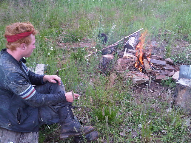 Camping near Zhigalovo road with Alistair