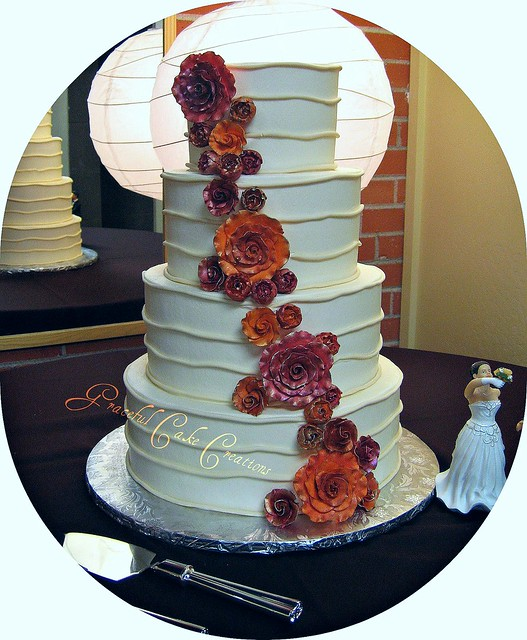 elegant fall wedding cakes fall themed wedding cake flickr photo 13960