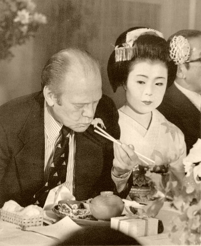 President Ford and Maiko Ichiume 1974 by Blue Ruin1