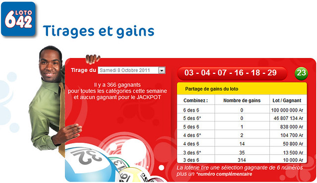 résultat TIRAGE LOTO 6/42 du 8 octobre 2011 | Flickr - Photo Sharing!