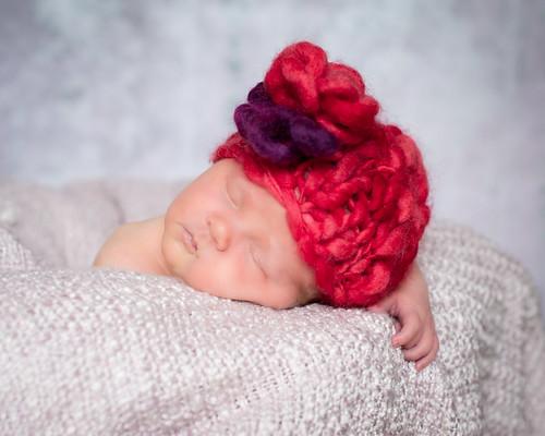 Baby Hat - ' precious flower'