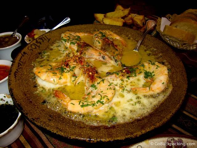 Langostinos in garlic butter sauce