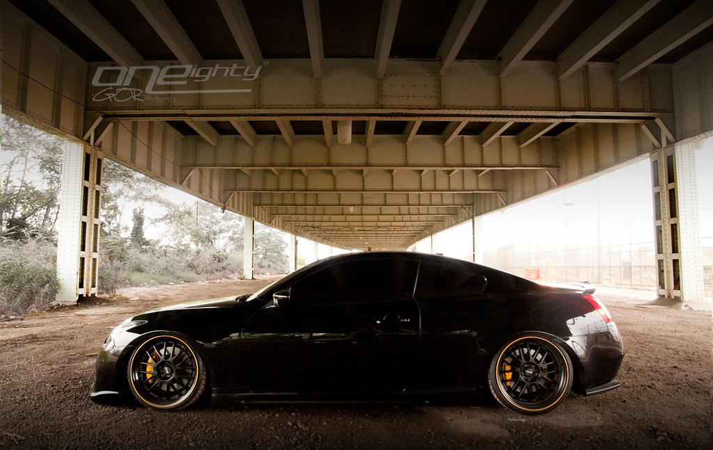 Infiniti G37 Coupe Black N Yellow Work Done By Oneighty Flickr