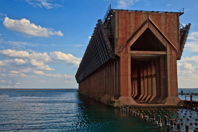 Old Ore Dock in Marquette MI.
