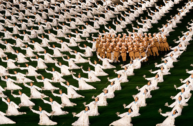 snow flakes and women soldiers in dprk