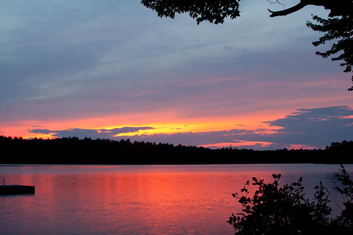 sunset usa lake night screensaver clear quantabacook