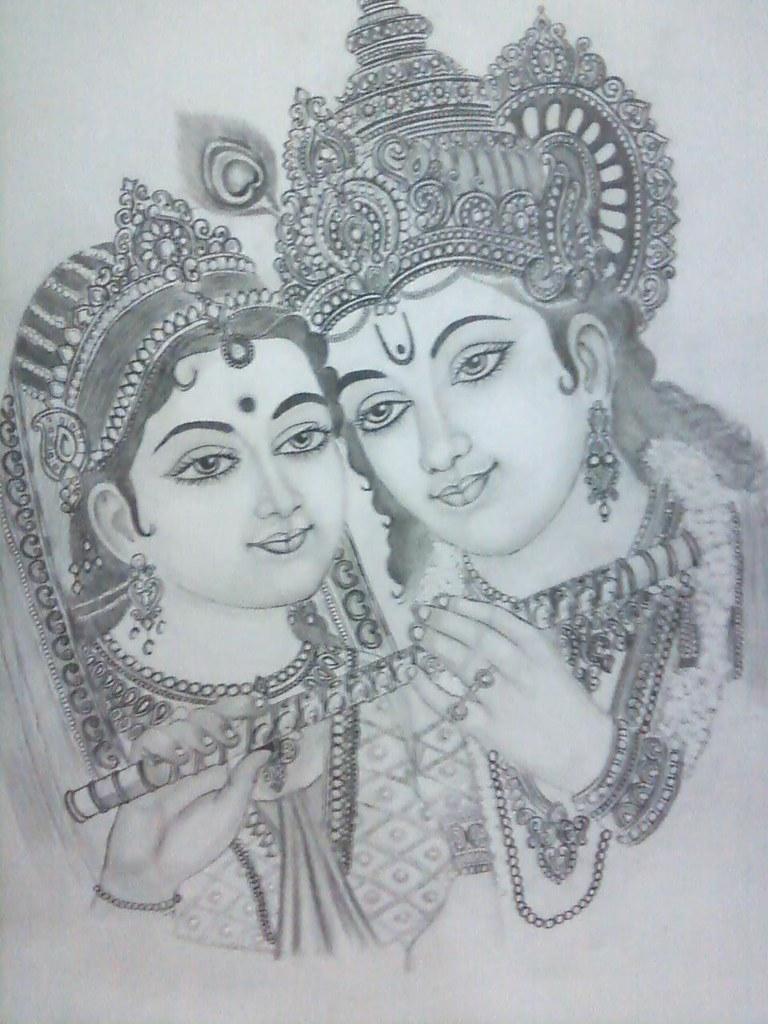 Radha Krishna Sketch Painting Radha Krishna Sketches Art For