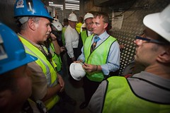 Medal of Honor Recipient Marine Sgt. Dakota Meyer tours Ground Zero, Sept. 20