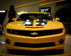 chevrolet, automobile, automotive exterior, exhibition, vehicle, automotive design, auto show, grille, bumper, land vehicle, chevrolet camaro, motor vehicle,