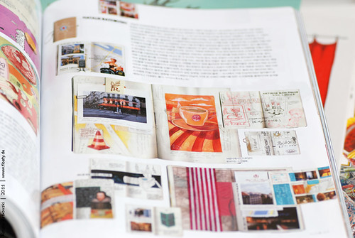 My Paris travel book in Elle Girl