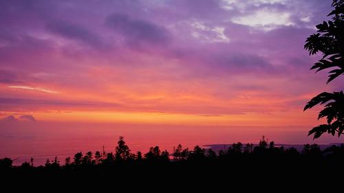 ocean sunset sky color home hawaii coast view bamboo orphanage bigisland kona holualoa img0727
