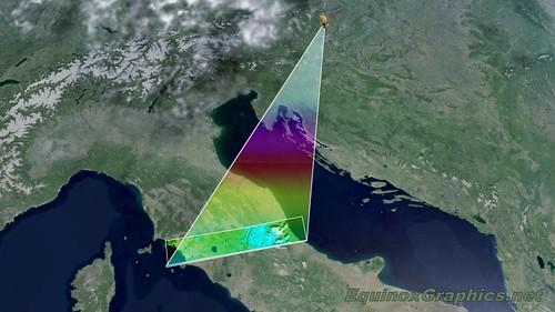 Sentinel 2 satellite scanning area