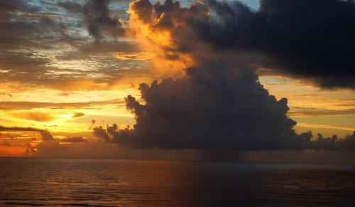 sunset cloud storm beach island florida