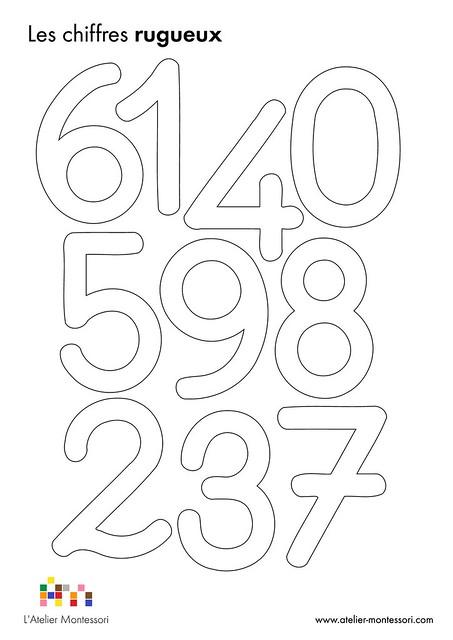 Les chiffres rugueux blog montessori l 39 atelier montessori - Chiffre a imprimer gratuit ...