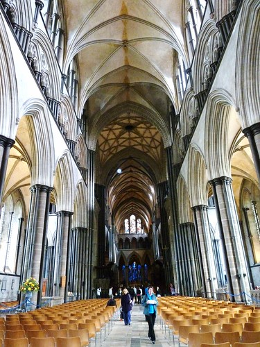 Inside Salisbury Cathedral, England