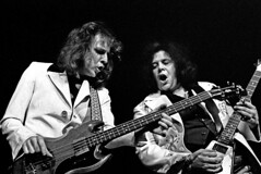 Jack Bruce and Leslie West, Hamburg, 1973, by Heinrich Klaffs