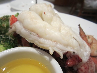 steam Lobster tail with shrimp