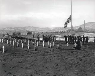 1st Marine Division Cemetery, Hamhung, Korea, 13 December 1950