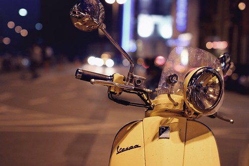 Vespa in the night
