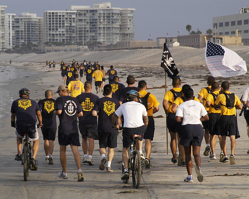 Sailors run 11 miles on the 10th anniversary of the Sept. 11, 2001 terrorist attacks