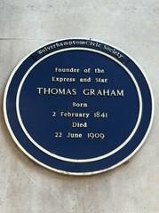 Photo of Thomas Graham blue plaque
