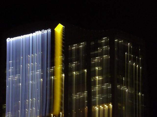 Commonwealth Bank - Night Lightpainting Sydney City CBD