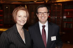 Australia Prime Minister Julia Gillard Addresses Asia Society Australasia on September 28, 2011